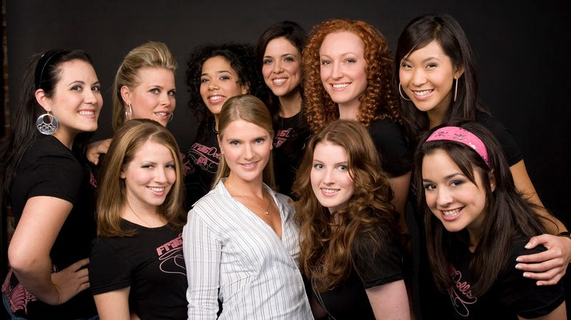 Ubisoft's Frag Dolls pose for a photoshoot in 2007.