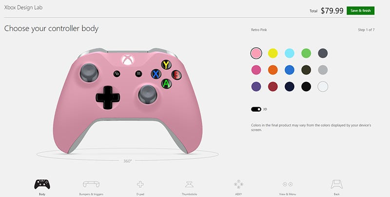 It's Hard To Make The Official Xbox One Custom Controllers
