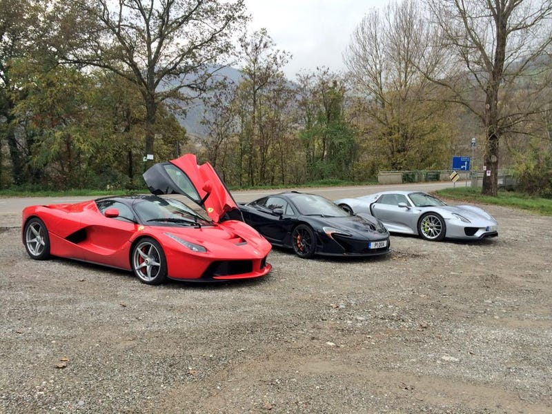 Illustration for article titled TopGear Has Finally Gathered the Three Hyper-Hybrids