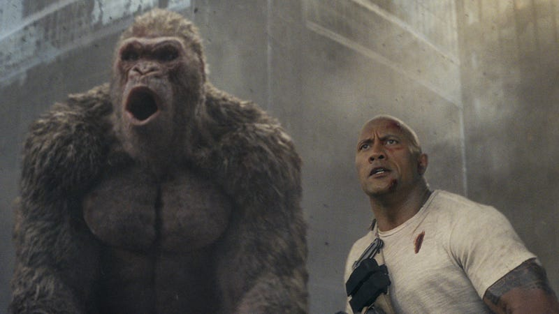 Illustration for article titled Weekend Box Office: Rampage gives Dwayne Johnson something new to brag about
