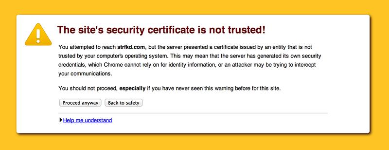 Illustration for article titled Chrome cambia sus alertas de SSL porque el 70% de usuarios las ignora