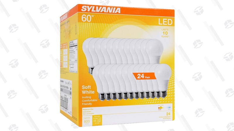 Sylvania 60W 24-Pack LED Bulbs | $23 | Amazon