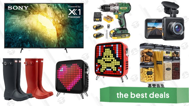Saturday s Best Deals: Hunter Boots, Teccpo Tools, Apeman Dashcam, Sony 55  4K TV, Pixel Art Bluetooth Speakers, and More