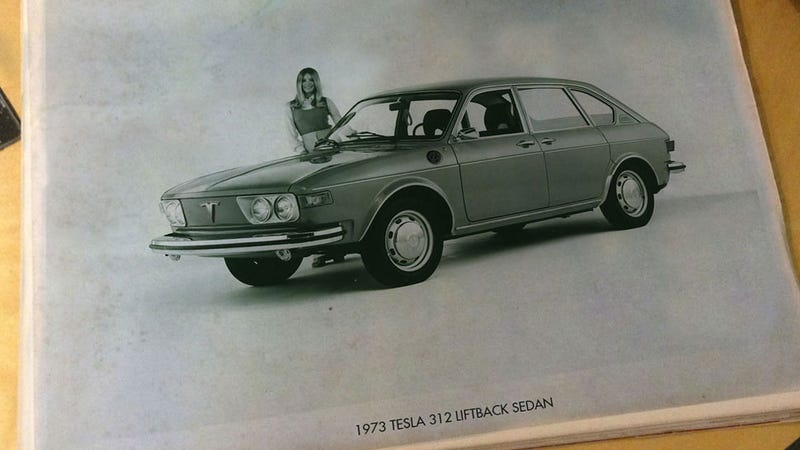 Illustration for article titled I Can't Believe I Was Lucky Enough To Find This 1973 Tesla Press Pic On eBay