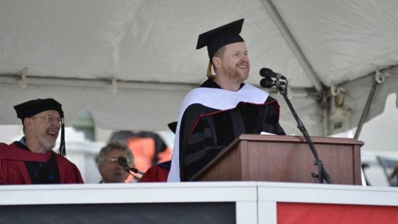 Illustration for article titled Joss Whedon tells Wesleyan graduates they're all going to die