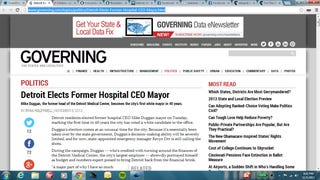 Governing Magazine Calls Detroit Mayoral Race With Zero Votes Reported