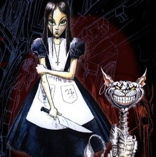 Deadly jumping jacks, a vivisected dormouse, and a suicidal Alice were the  products of famed designer American McGee's first trip through the looking  glass.