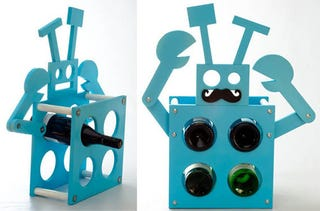 Illustration for article titled Robot Wine Rack Isn't Fooling Anyone with That Disguise