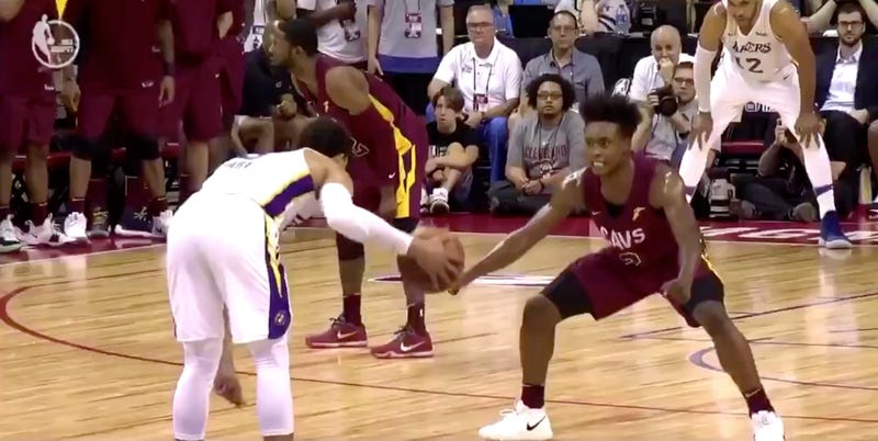 Illustration for article titled Collin Sexton's Summer League Crunch Time Defense Is Maybe Too Intense
