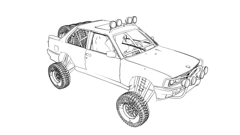 Illustration for article titled $500 Craigslist Rally Car Goes To The Baja 1000