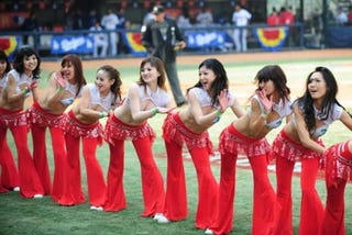 Illustration for article titled The Chinese Know Baseball Needs More Cheerleaders