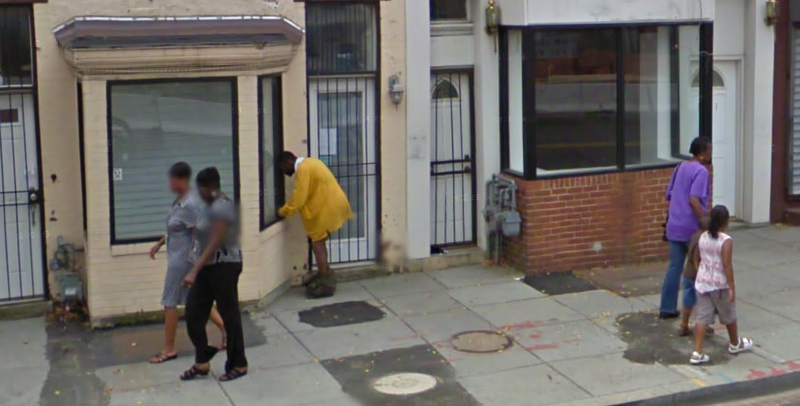 Illustration for article titled Google Street View Captures Guy Getting Ready To Do Something Disgusting on a DC Street