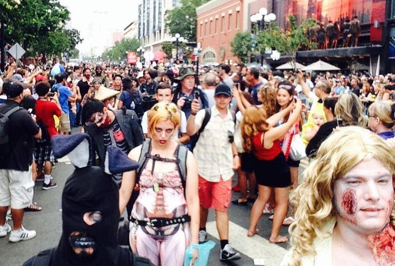 Illustration for article titled Driver Who Plowed into 2014 Comic-Con Zombie Walk Found Guilty