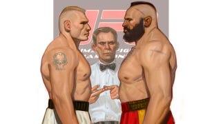 Illustration for article titled I Bet Brock Lesnar Could Beat Up Goku