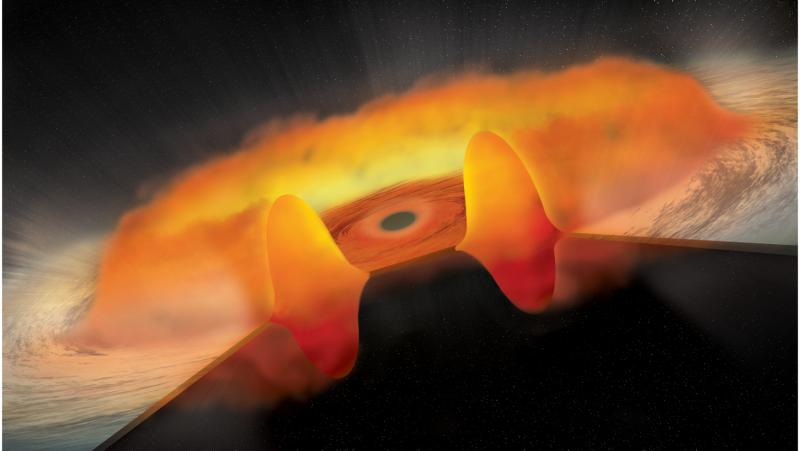 Illustration for article titled Este es el sonido que emitiría un agujero negro si pudiéramos oírlo