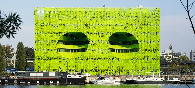 Illustration for article titled Euronews' Alien HQ in Lyon Is Staring At You