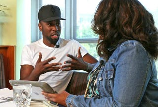 Celebrity stylist Johnny Wright talks with The Root Associate Editor Danielle Belton about his work with first lady Michelle Obama.Nicole L. Cvetnic/The Root