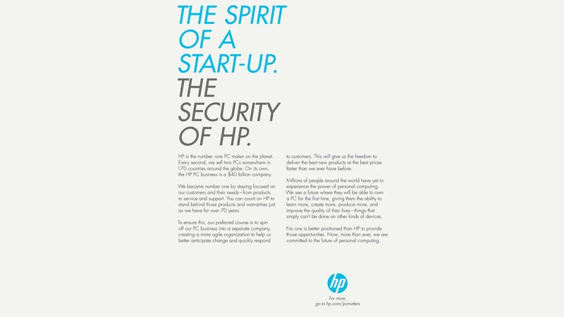 Illustration for article titled HP, You're Seriously Bumming Me Out