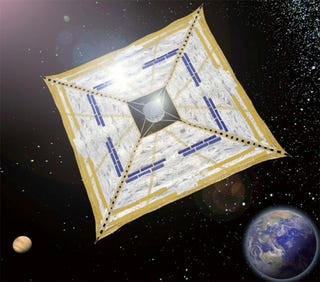 Illustration for article titled Japan's Mega Solar Kite Conquered Space, But Now Needs To Fly