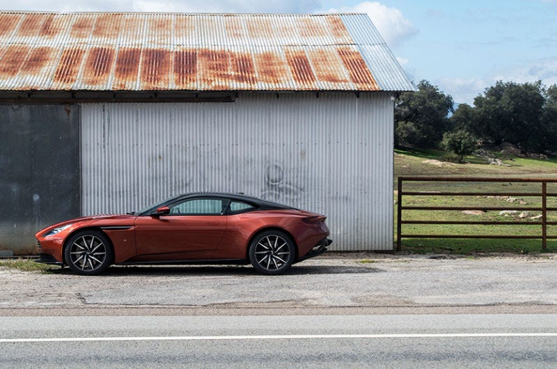 Pictured: an Aston Martin DB11. Most certainly not a hybrid.