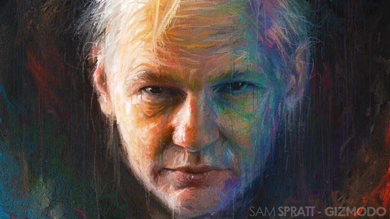 "Illustration for article titled Julian Assange Thinks Facebook Is the ""Most Appalling Spy Machine That Has Ever Been Invented"""