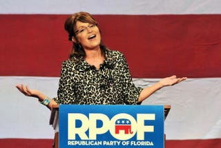 Former Alaska Gov. Sarah Palin at the Republican Party of Florida's fundraising event at Disney's Grand Floridian Resort Nov. 3, 2011, in Lake Buena Vista, Fla.Roberto Gonzalez/Getty Images