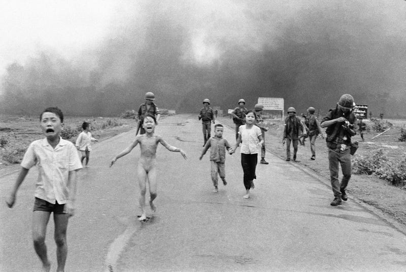 Vietnamese children flee site of napalm attack in South Vietnam on June 8, 1972. Photo credit: Associated Press / Nick Ut