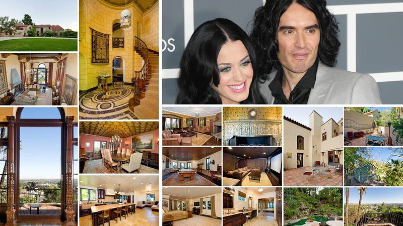 Illustration for article titled Tour Katy Perry and Russell Brand's New Hollywood Chateau
