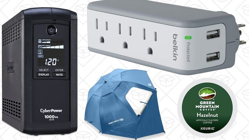 Illustration for article titled Today's Best Deals: Surge Protectors, Coffee Pods, Sport-Brella, and More