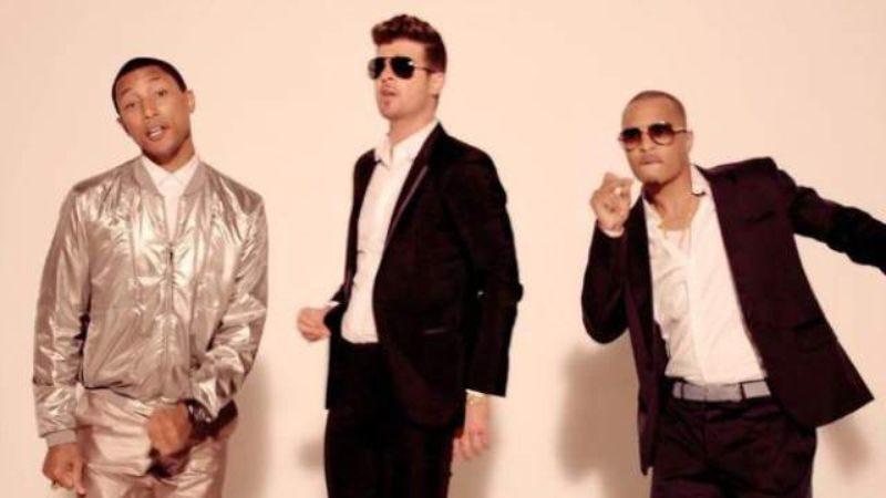 """Illustration for article titled Judge reduces damages in """"Blurred Lines"""" lawsuit, names T.I. responsible"""