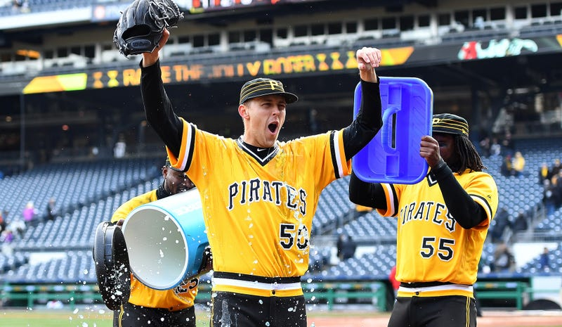 Illustration for article titled Jameson Taillon Is Willing To Have His Teammates Pee On Him If It Helps