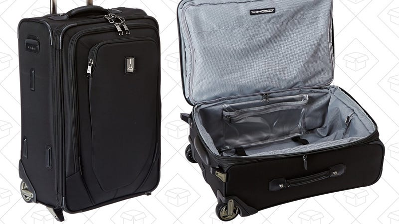 Travelpro Crew 10 Rollaboard, $94 for Prime members. Discount at checkout.