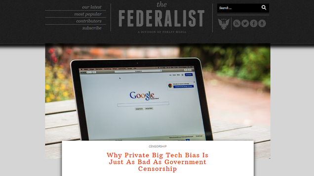 The Federalist Bends the Knee to Big Tech, Deletes Its Awful Comments Section