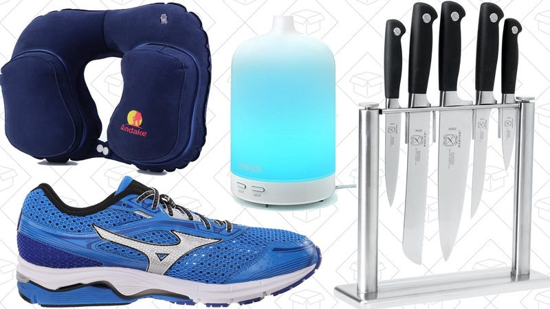 Illustration for article titled Today's Best Deals: Oil Diffusers, Kitchen Knives, Running Shoes, and More