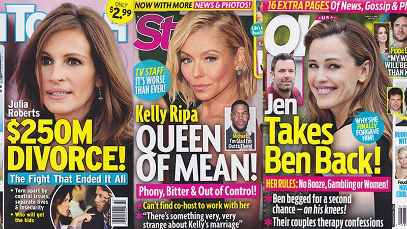 Illustration for article titled This Week In Tabloids: Everyone on This Fucking Planet Thinks Kelly Ripa Is Mean