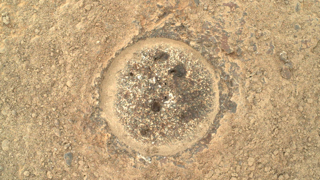 Perseverance Collects Its First Rock Sample on Mars