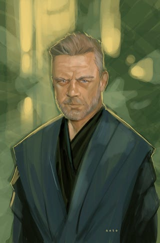 Illustration for article titled Jedi Master Luke Skywalker by Phil Noto