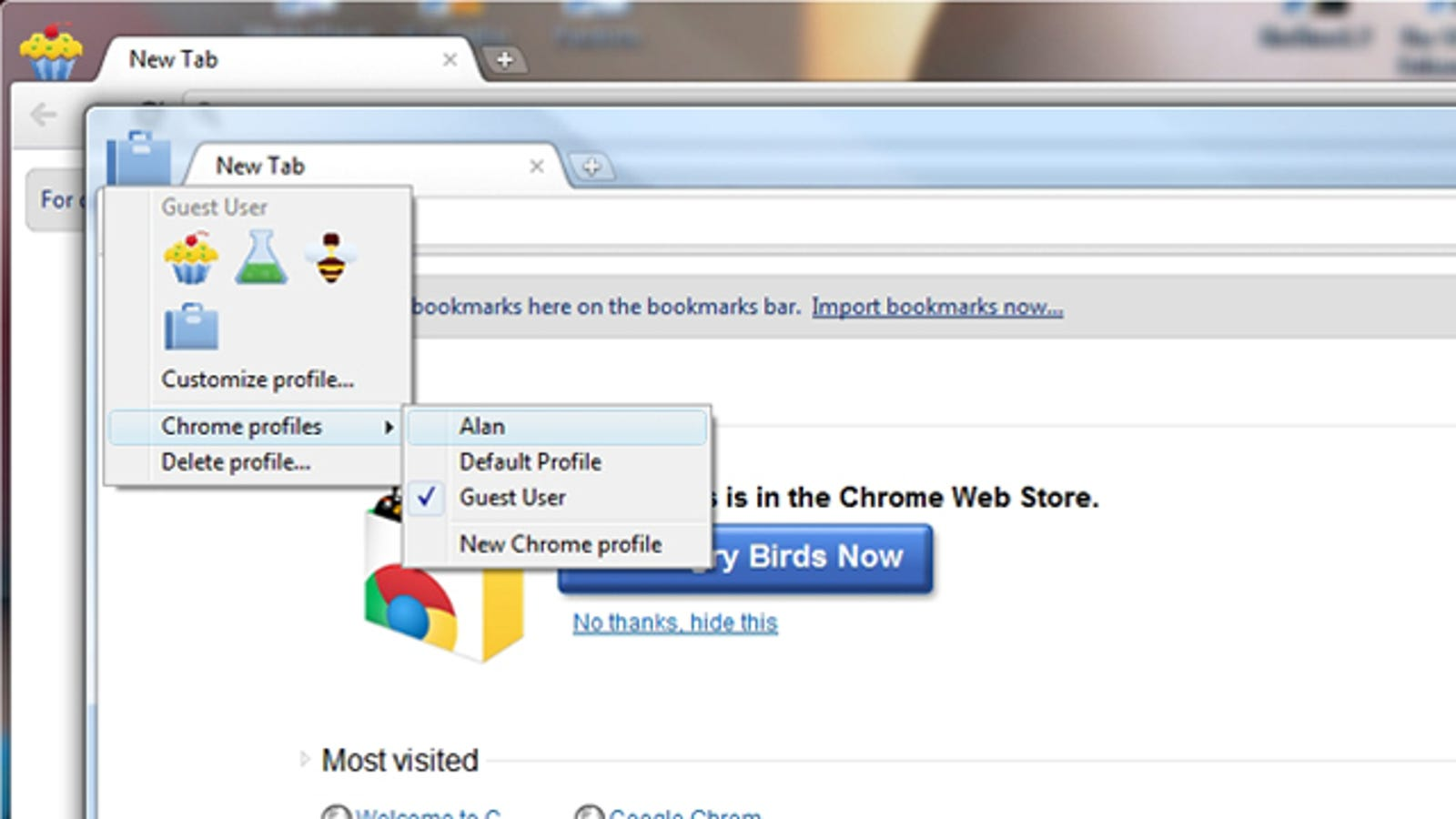 Chrome Canary and Dev Get Improved Multiple Profile Support
