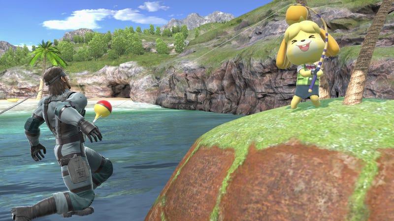 Illustration for article titled Isabelle Player Proves She Can Take Solid Snake In Super Smash Bros. Ultimate Upset