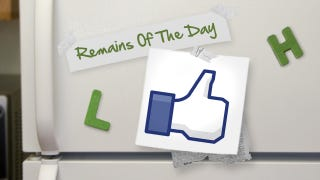"""Illustration for article titled Remains of the Day: Facebook Scans Your Messages, """"Likes"""" Pages You've Talked About"""