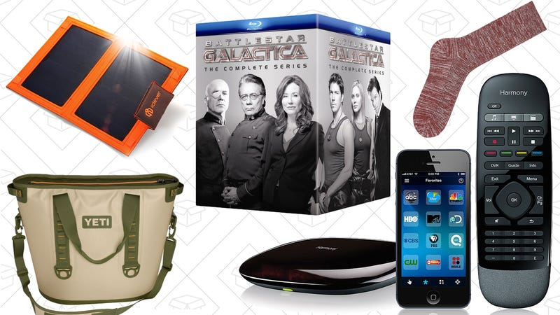 Illustration for article titled Today's Best Deals: Logitech Harmony, Battlestar Galactica, Labor Day Sales, and More