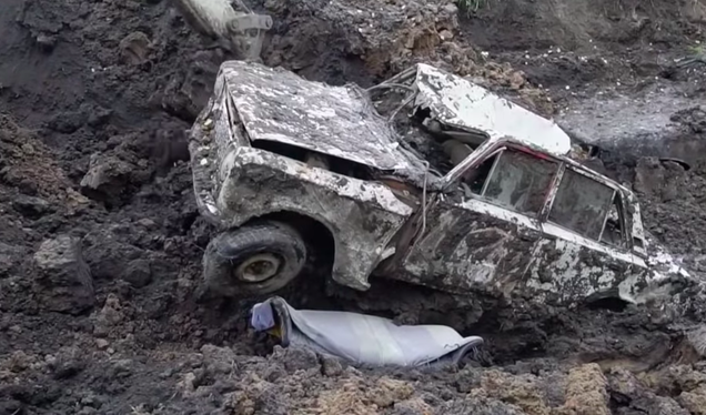 726753020d Last fall, Vlad, the wacky Russian car experimenter who hosts YouTube  channel Garage 54 ENG, buried three cars, as one does when one has a car  YouTube ...