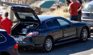Illustration for article titled 2010 Porsche Panamera Caught With Its Hatch Open