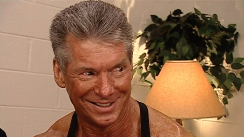 Vince McMahon, seen here with spray tan, in 2006. (Screenshot/WWE Network)