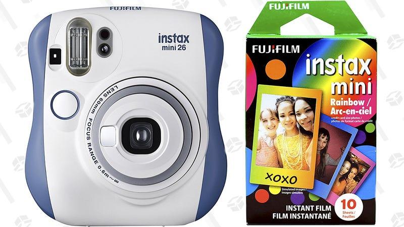 Fujifilm Instax Mini 26 and Rainbow Film Bundle | $40 | Amazon