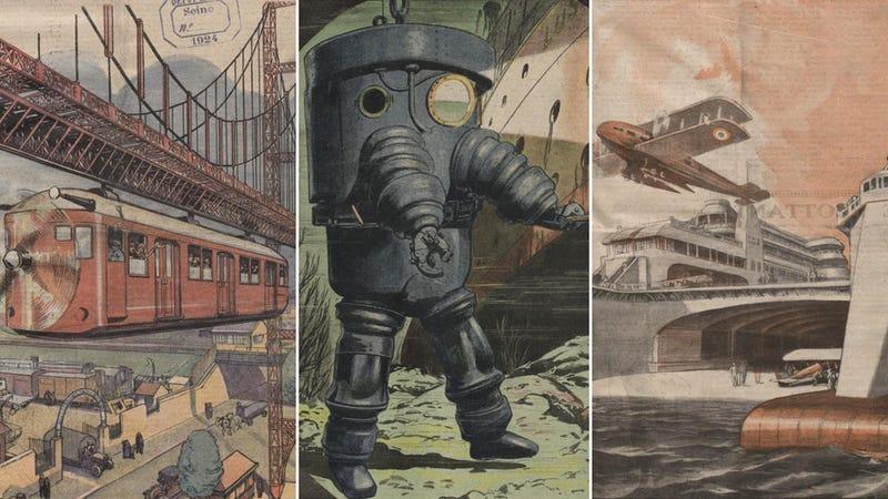 22 imágenes de cómo veíamos el futuro hace 100 años