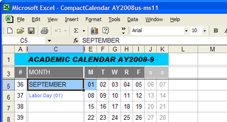 Illustration for article titled Compact Academic Calendar Excel Template