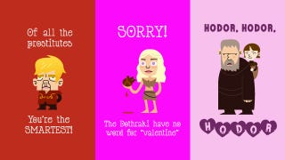 Illustration for article titled Game of Thrones Valentines: So Full of Win, You'll Die