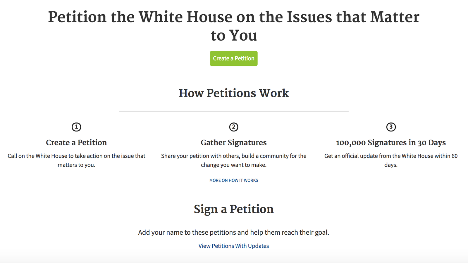 how to make a petition