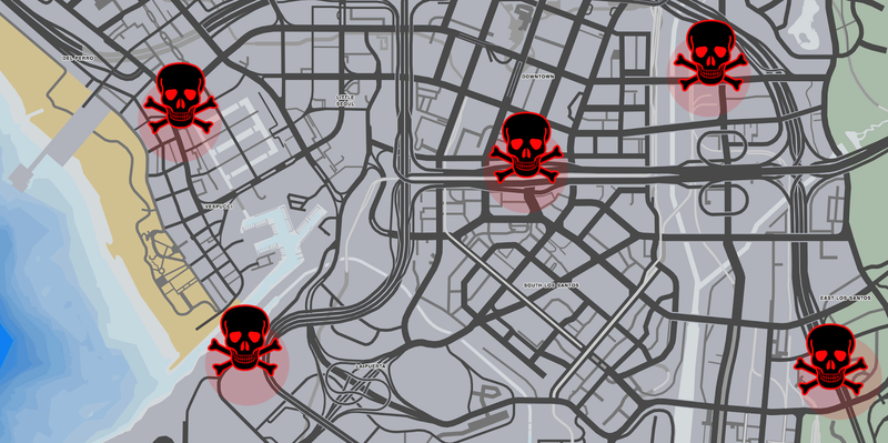Illustration for article titled GTA Online Is Full Of Places Where You'll Automatically Die